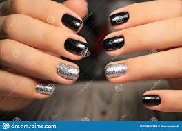 Short Nail Designs With Glitter Colorful Christmas Nails Winter Nail Designs With Glitter