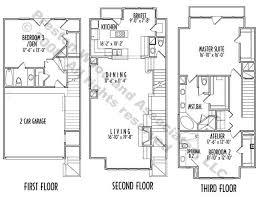 3 story house plans narrow lot. Hillside House Plans Story Narrow Lot Building Online 32677 3 D