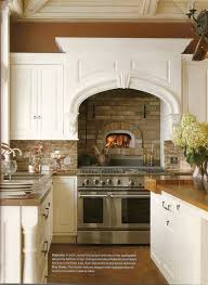 kitchen with a brick wood fired oven
