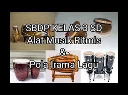 Gendang, yaitu jenis alat musik pukul … Sbdp Kelas 3 Sd Alat Musik Ritmis Pola Irama Lagu Youtube