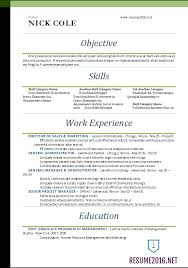 Word Resume Templates 2016 Standard Resume Format 2016