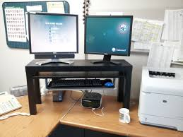 custom standing desk kidney shaped mid. IKEA Alex Desk Hack Ideas Custom Standing Kidney Shaped Mid