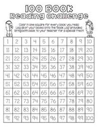 100 Book Challenge Chart End Of The Year Fun Unit Reading Reading Challenge Book Log