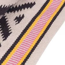 cult living 100 cotton aztec diamond moroccan kilim rug black multi
