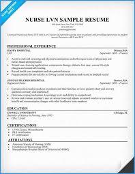 Free Resume Templates For Lpn Nurses Marvelous Lvn Nurse Resume