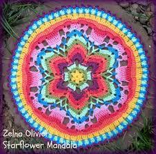 Free Crochet Mandala Pattern Inspiration Zooty Owl's Crafty Blog Starflower Mandala Pattern