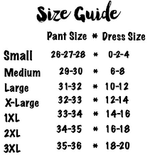 Size Guide Bungalow 123