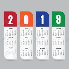 2019 Calendar Design Template Calendar New Planner Png