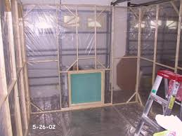 paint booth assembled minus top inside photo