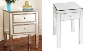 Mirrored Side Tables Bedroom Long Side Table Design Coffee Table Makeovermod Podge Style