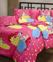 cartoon prints pretty princess double bed sheet pillow cartoon prints pretty princess double bed sheet 2 pillow covers 220 tc