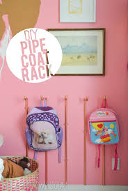Diy Kids Coat Rack DIY Copper Pipe Wall Coat Rack Tutorial Coat racks Pipes and Wall 23