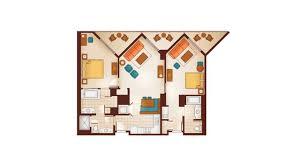 DVC Aulani 2 Bedroom Lock Off Floorplan