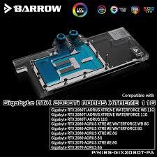<b>Barrow BS</b>-<b>GIX2080T</b>-<b>PA</b>, LRC 2.0 Full Cover <b>Graphics Card Water</b> ...
