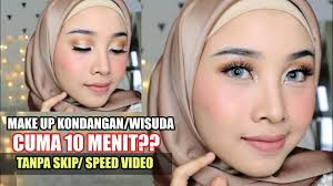 tutorial makeup kondangan wisuda tips make up cepat dan mudah full coverage