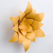 Made Flower With Paper 8 Inch Pre Made Gold Lotus Paper Flower Wedding Backdrop Wall Decor 3d Diy