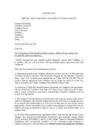 Vodafone Letter Of Termination 1 1 Contractual Term Private Law
