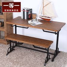 wrought iron and wood furniture. American Country Coffee Cafe Tables And Chairs Solid Wood Furniture Vintage Wrought Iron