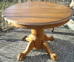 Antique Round Lion s Claw Leg Oak Table – SOLD