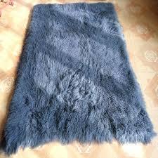large mongolian sheepskin rug gray fur blanket home decor rugs and carpets for living ts room mongolian sheepskin rug