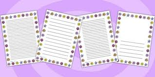 Paper With Flower Border Free Flower Page Border Flower Writing Flower Borders