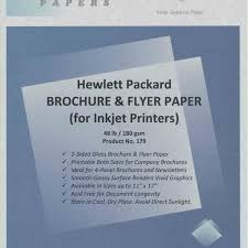 paper flyer hp gloss brochure flyer paper inkjet photo paper for sale