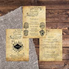 bestseller 1 harry potter wedding invitation template suite