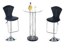 modern glass bar table global furniture 3 piece round glass bar table set with global furniture