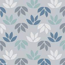 Simple pattern of leaves on blue ...