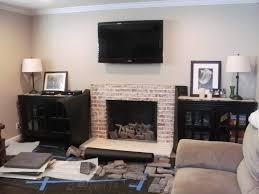 brick veneer fireplace install