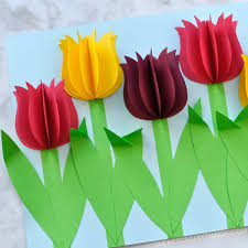 Chart Paper Flower Making Gorgeous 3d Paper Tulip Flower Craft I Heart Crafty Things