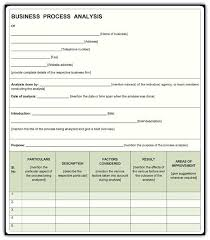 Business Process Description Template Business Process Template