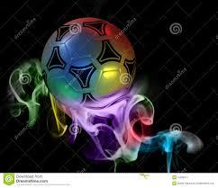 Fantastic soccer ball stock illustration. Image of sticks - 15589971