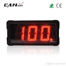 ganxin5 inch 3 digits outdoor use waterproof red color good quality large digital counter led double sign display small decorative wall clocks small digital