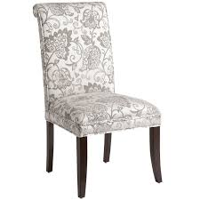 angela silver leaves dining chair with espresso wood  pier  imports