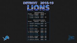 2018 2019 detroit lions wallpaper schedule