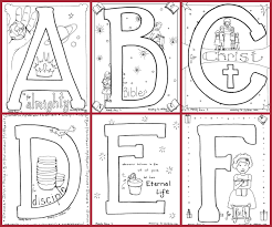 Another variant of the english alphabet. Bible Alphabet Coloring Pages 100 Free