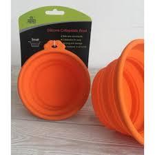 <b>миска</b> для собак силиконовая <b>складная</b> 250 мл оранжевая