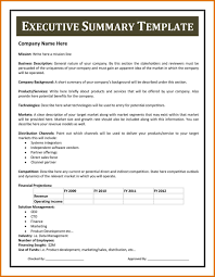 Executive Summary Report Example Pdf Project Cost Template Format In