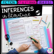 Rl 4 1 Anchor Chart Inferences In Literature 4th Grade Rl 4 1 And 5th Grade Rl 5 1