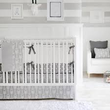 image of unique baby girl crib bedding gray