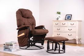 glider rocker swivel chairs. amazon.com : merax® home furniture ergonomic suede fabric swivel glider recliner rocking chair and ottoman set rocker (chocolate) baby chairs t