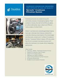 Donaldson Spiracle Crankcase Filtration System