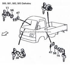 daihatsu s80, s81, s82, s83 ignition switch Daihatsu Hijet S65 Wiring Diagram Daihatsu Hijet S65 Wiring Diagram #27