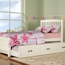 wood white trundle beds for children — loft bed design  excellent