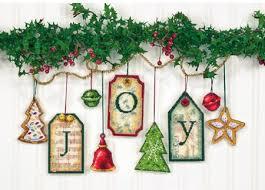 Joy Tag Christmas Ornaments - Cross Stitch Kit