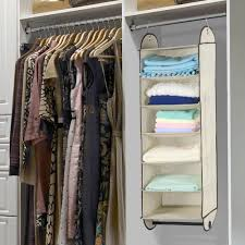 finether hf hb oyj 426004 foldable 6 shelf fabric hanging closet organizer for