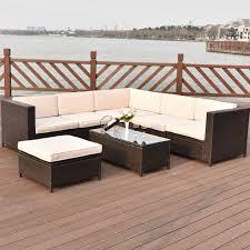outdoor wicker furniture sets wicker patio furniture clearance modern espresso l shaped wicker sofa