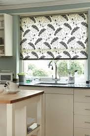 Decorate Window In The Kitchen Using Ciute Colorful Roller Window
