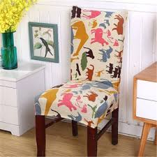 1 piece soft stretch spandex chair covers for kitchen chair short dining chair slipcover